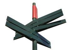 Posts de muestra direccionales en blanco (trayectoria de recortes) Foto de archivo libre de regalías