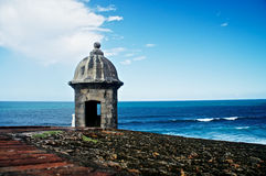 Posts de observación en un bastión en San Juan Foto de archivo libre de regalías