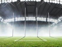 Posts del estadio y de la meta de los deportes ilustración del vector