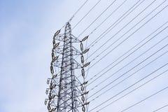 Posts eléctricos de las telecomunicaciones del alambre Fotografía de archivo libre de regalías