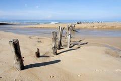 Posts on Khuek Khak beach Stock Photography