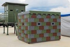 Posts modulares temporales prefabricados Foto de archivo libre de regalías