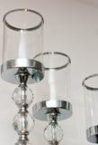 Posts o tenedores decorativos de la lámpara Fotografía de archivo