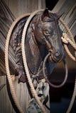 Posts que enganchan de la cabeza de caballo de hierro labrado Imágenes de archivo libres de regalías