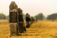 Posts of Stockade. In the arid prairie Stock Photos