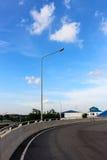 Posts y calle de la lámpara Foto de archivo libre de regalías