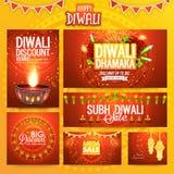 Posts y jefe sociales de los medios para Diwali