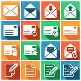 Postsendungsikonen stock abbildung