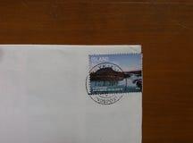 Poststämpel från ön Arkivbild