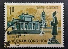 poststämpel vietnam Arkivbild