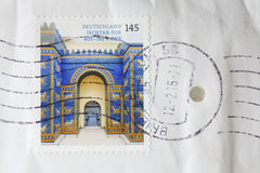 Poststamp Stockfoto