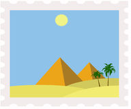 Poststamp de l'Egypte Photos libres de droits