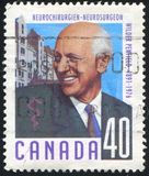 Poststamp printed by Canada royalty free stock photos
