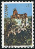 Poststamp. ROMANIA - CIRCA 1978: stamp printed by Romania, show castle, circa 1978 royalty free stock photography