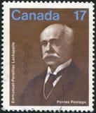 Poststamp som skrivs ut av Kanada arkivfoto