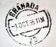 Poststempel Granada-Spanien Stockbild