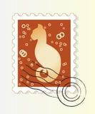 Poststempel mit Katze Vektor Abbildung
