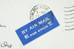 Poststmark mit Luftpost lizenzfreie stockbilder