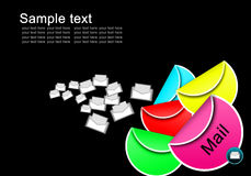 Postsymbol på etikettsset vektor illustrationer