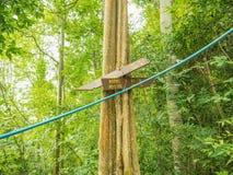 """Postto de guide """"MO-E-HOK """"en montagne de Khao Luang en parc national de Ramkhamhaeng, province Thaïlande de Sukhothai photographie stock libre de droits"""