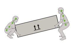 Postura correcta para levantar un objeto pesado con seguridad Ejemplo del vector de la atención sanitaria Foto de archivo