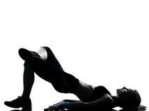 Postura da aptidão do exercício da mulher Imagens de Stock Royalty Free
