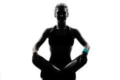 Postura da aptidão do exercício da mulher Fotografia de Stock