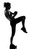 Postura da aptidão do exercício da mulher Foto de Stock Royalty Free