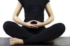 Postura da meditação de pernas cruzadas Imagens de Stock Royalty Free