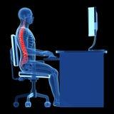 Postura de assento correta Fotografia de Stock