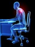 Postura de assento errada Foto de Stock Royalty Free
