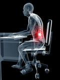 Postura de assento errada Foto de Stock
