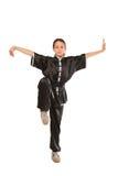 Postura de la muchacha de Wushu imágenes de archivo libres de regalías