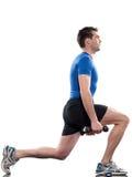 Postura de Worrkout do homem Imagem de Stock Royalty Free