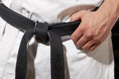 Postura del karate foto de archivo
