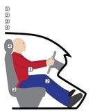 Postura detrás de la rueda stock de ilustración