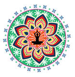 Postura dos lótus da ioga Imagens de Stock Royalty Free