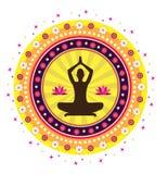 Postura dos lótus da ioga Imagem de Stock Royalty Free