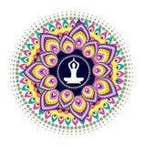 Postura dos lótus da ioga Imagens de Stock