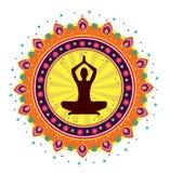 Postura dos lótus da ioga Fotos de Stock Royalty Free