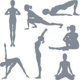 Posturas da ioga ilustração do vetor