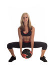 Posture accroupie de medicine-ball photos libres de droits