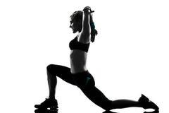 Posture de forme physique de séance d'entraînement de femme Image libre de droits