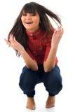 postures accroupies Image libre de droits