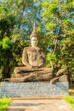 The postures of the Buddha and descriptions at  at Sala Keoku, t Stock Photos