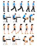 Postures colorées réglées illustration stock