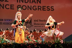 Postures of indian classical dances Stock Photo