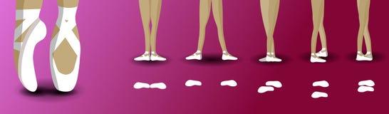 Postures pies en ballet stock de ilustración