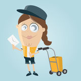 Postwoman bringing a letter Royalty Free Stock Image