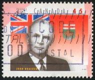 postzegel door Canada wordt gedrukt dat stock fotografie